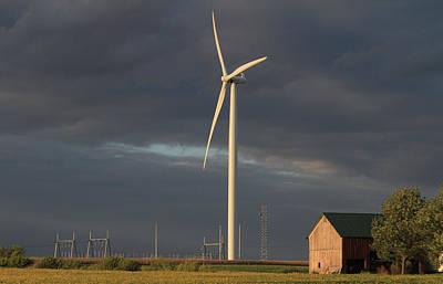 Farming  The Wind Art Print