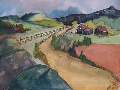 Farmland Road Art Print by Barbara McGeachen