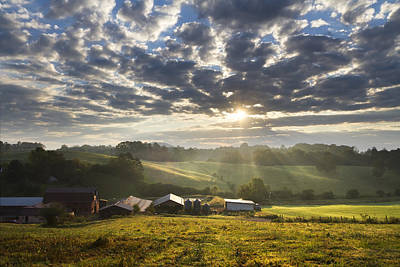 Farmlands Of Appalachia Art Print