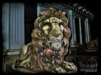 Farnam Manor Haunt Art Print by Joan  Minchak