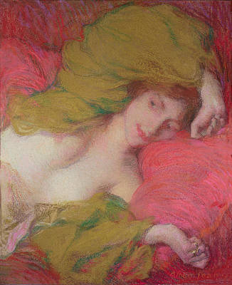 Nothing Painting - Farniente by Edmond-Francois Aman-Jean