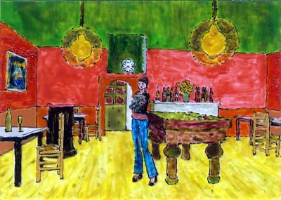 vincent van gogh pool table painting
