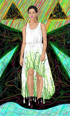 Fashion Abstraction De Jeff Hanson Art Print by Kenal Louis