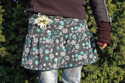 Photograph - Fashion And Nature - Floral Skirt by Matthias Hauser