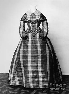 Photograph - Fashion: Dress, C1865 by Granger
