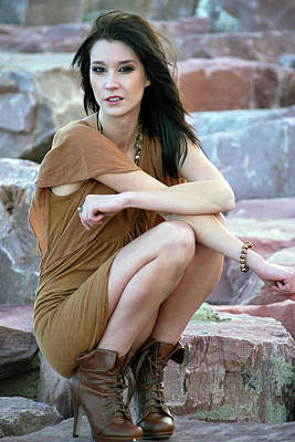 Photograph - Fashion On The Rock by Amee Cave