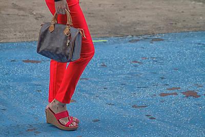 Fashionably Red Art Print by Karol Livote