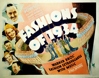 Fashions Of 1934, Top To Bottom Art Print by Everett
