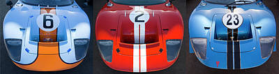 Photograph - Fast Company - Gt40 Trio by Alan Raasch