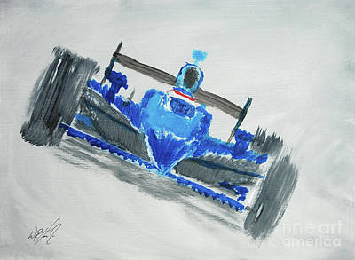 Indycar Painting - Fast Girl by William Homeier