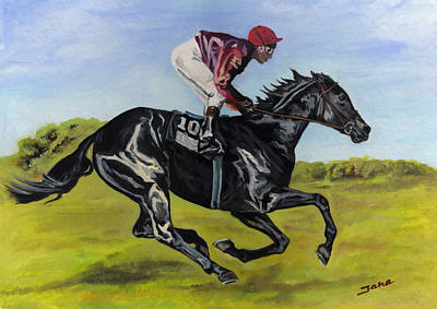 Kentucky Derby Painting - Fast by Jana Goode