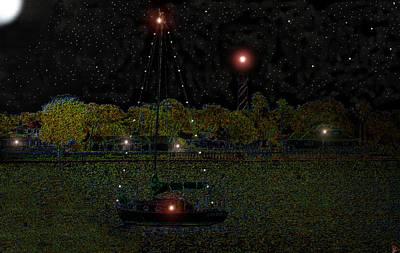 Fat Moon Bay Art Print
