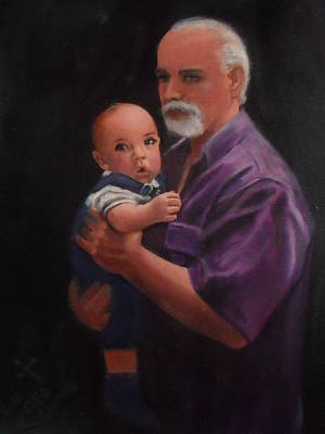 Father And Son Art Print by Charles Wells