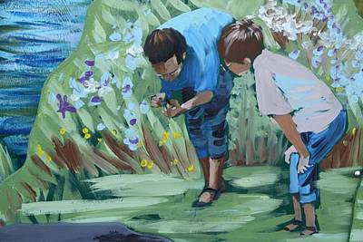 Father And Son Detail Of Spring 1 Art Print