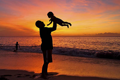 Father And Son Silhouette Art Print by Vince Cavataio - Printscapes