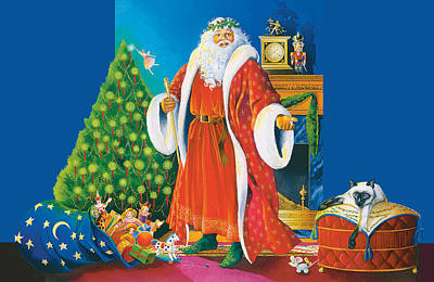 Painting - Father Christmas by Steven Stines
