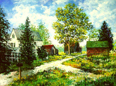 Painting - Father In Law's Farm by Lou Ann Bagnall