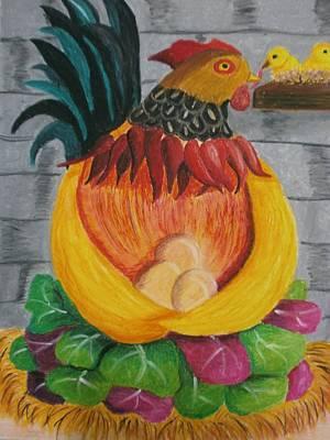 Yellow Beak Painting - Fatherly Veru by Adam Wai Hou