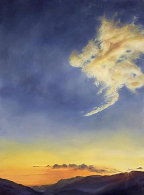 Cloudscape Painting - Father's Joy  by Antonia Myatt