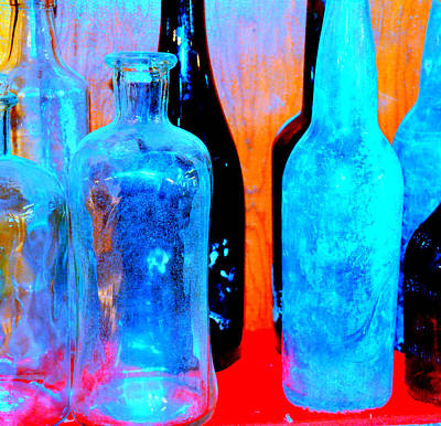 Photograph - Fauvist Bottles by Diane montana Jansson