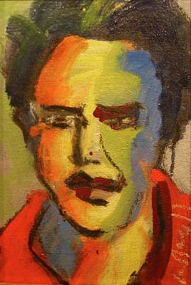 Art Print featuring the painting Fauvist Elvis by Les Leffingwell