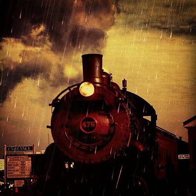 Steam Wall Art - Photograph - #faux #rain #strasburg #railroad by Antonio DeFeo