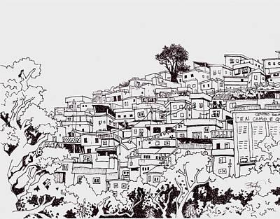 Favelas  Art Print by Ben Leary