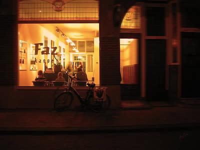 Photograph - Faz Kapper Tilburg By Night by Nop Briex