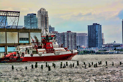 Digital Art - Fdny Fireboat by Terry Cork
