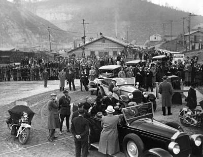 Franklin Tennessee Photograph - Fdr Inspect Norris Dam Construction by Everett