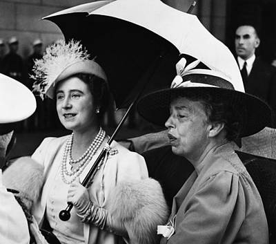 Fdr Presidency. British Queen Elizabeth Print by Everett
