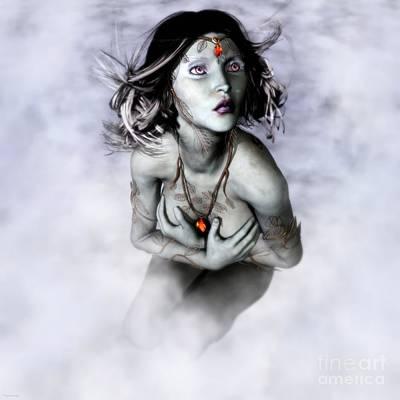 Elven Digital Art - Fear by Gabor Gabriel Magyar - Forgottenangel