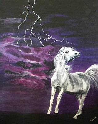 Painting - Fear In The Night 2 by Denise Hills