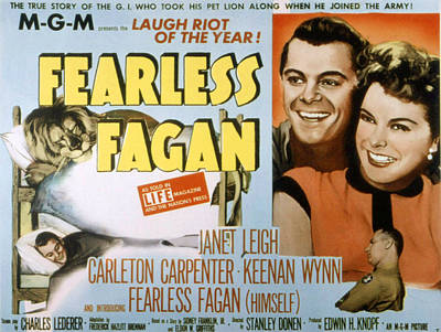 Fid Photograph - Fearless Fagan, Carleton Carpenter by Everett