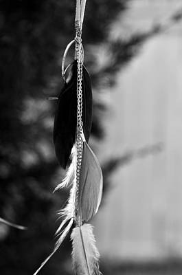 Photograph - Feather Hanging  On A Chain  by Puzzles Shum