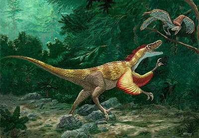 Feathered Dinosaurs Art Print by Chris Butler