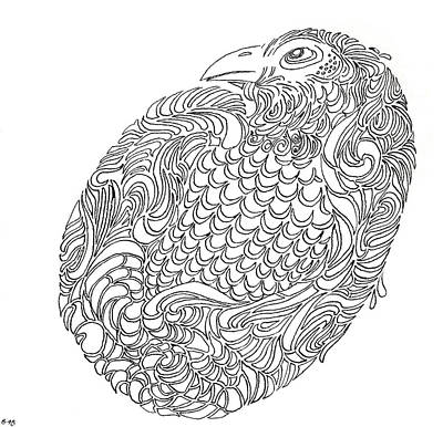Drawing - Feathered Egg by Phil Burns
