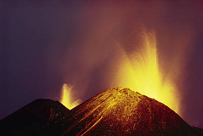 Ecu Photograph - February 1979, Lava Fountaining by Tui De Roy
