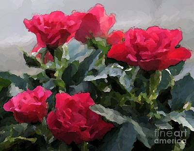 February Roses Art Print