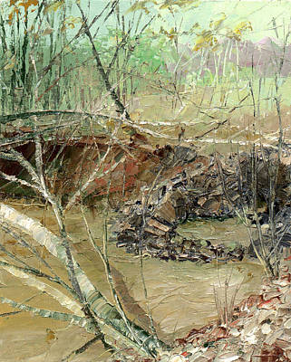 Painting - February Stream by Sergey Zhiboedov
