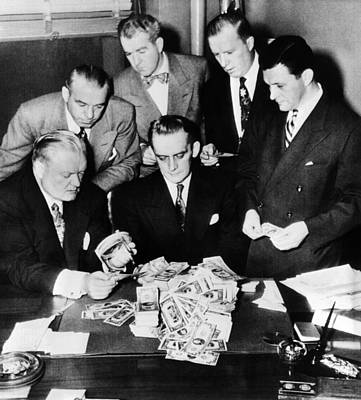 Federal And State Men Looking At Part Print by Everett