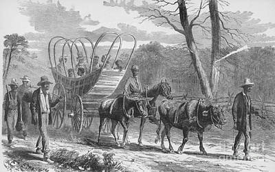 Federal Camp Contraband, 19th Century Art Print by Photo Researchers
