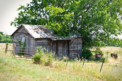Old Barns Photograph - Feed Lot Barn by Lisa Moore