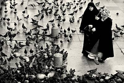 Photograph - Feeding The Pigeons by Dean Harte