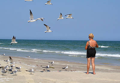 Photograph - Feeding The Sea Gulls by Roena King