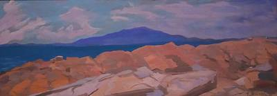 Maine Landscapes Painting - Feel The Rock Flow by Francine Frank