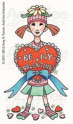 Acklfee Drawing - Feenie - Be Mine Valentine by Amy S Turner