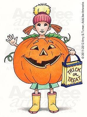 Acklfee Drawing - Feenie - Lil Punkin by Amy S Turner