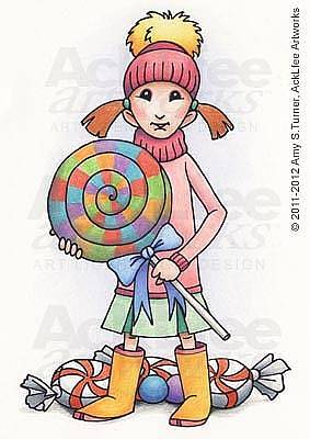 Acklfee Drawing - Feenie - Sweets For The Sweet by Amy S Turner