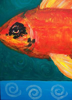Art Print featuring the painting Feesh by Krista Ouellette